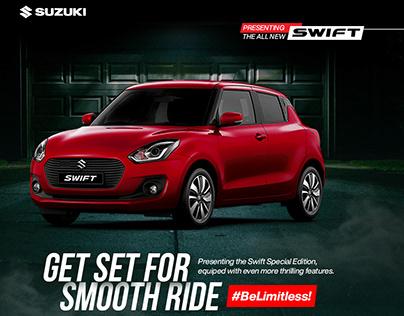 Maruti Suzuki Swift Social Media Banner for Promotion
