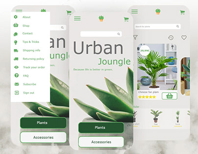 e-commerce application for indoor plants