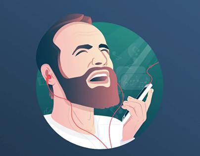 Man Singing Animation