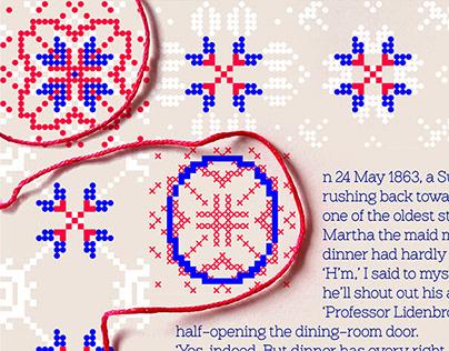 Embroidered Typographic Specimen