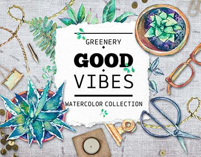 Greenery Good Vibes
