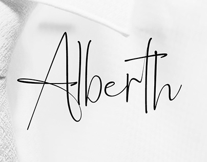 Alberth | Modern Elegant font