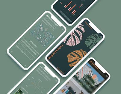 Urban Gardens Infographic Mobile App