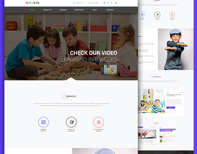 Kids Life 2 Web Template