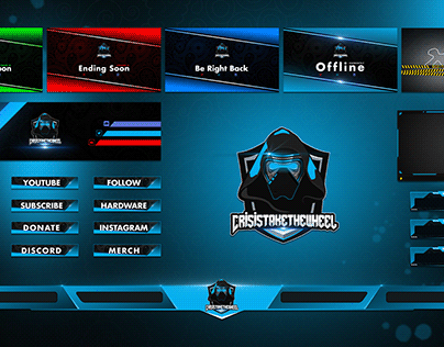 Twitch Overlay with Mascot Logo for your stream