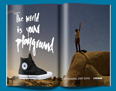 Converse: Double Page Spread Ads