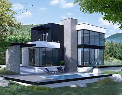 Modern Mountain Villa