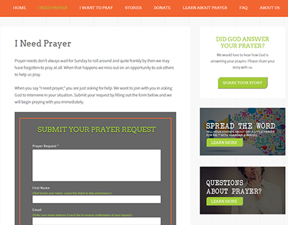 Say A Little Prayer For Me Branding and Website