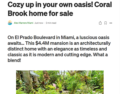 Cozy up in your own oasis! Coral Brook home for sale