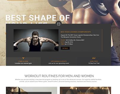 Smartfit - Fitness & Gym  Web Template