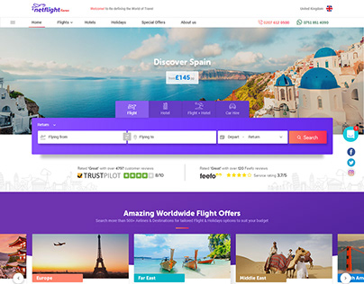 Net Flight Website Design & Flight Booking Flow