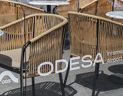 Summer terrace of Odesa International Airport