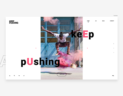 Keep pushing - Web design