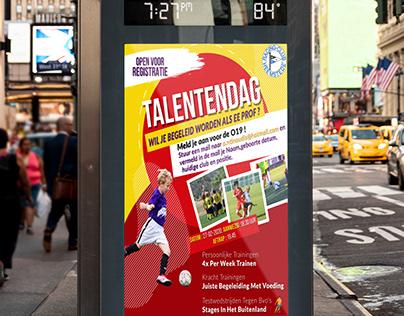 Soccer Flyer in Dutch