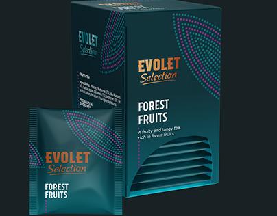 Evolet Selection Tea Packaging Design