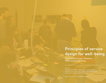Design principles for organizational wellbeing