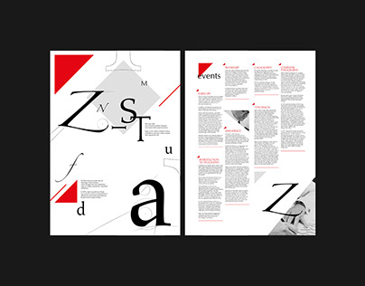 """Printing booklet / Posters """"Herman Zapf"""" (Typography)"""