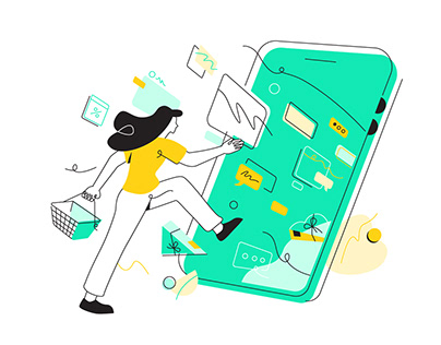 Teleport Brand Illustration