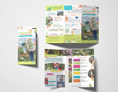 Création dépliants Jardins de Brocléiande