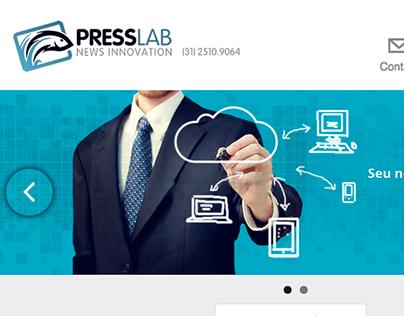 UX/UI Design da Presslab - Empresa de Tecnologia