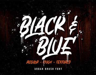 Black & Blue (FREE FONT)