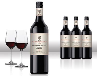 "Wine Label Design Concepts for ""Tamarind Garden"""