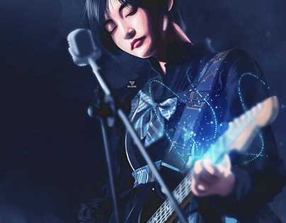 fanart the girl with guitar