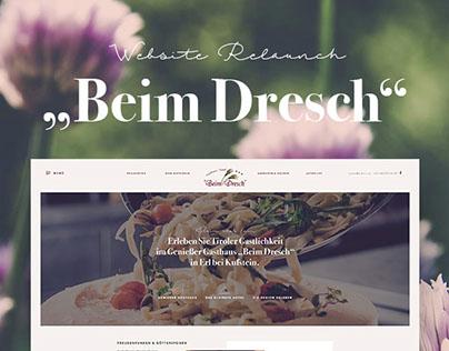 """Web-Relaunch - Gasthaus """"Beim Dresch"""""""