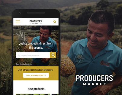 UX /UI Design for Producers Market
