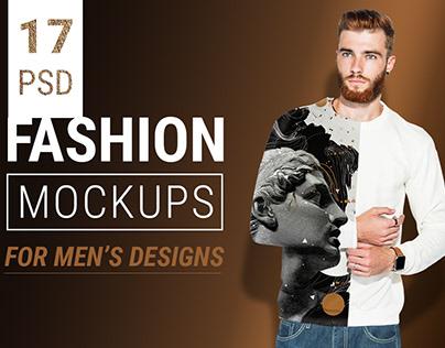Men's fashion wear mockup bundle + Free PSD demo file