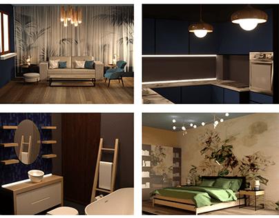 Apartment SketchUp+3DMax(Corona)