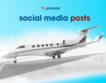 Social Media Posts Design Air Plane