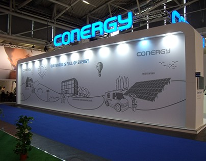 Conergy trade fair booth