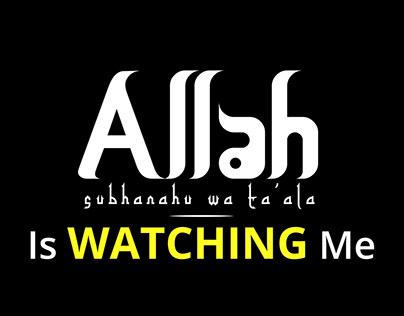 Wallpaper Islamic Allah Is Watching Me Wallpapershit