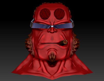 Zbrush HellBoy bust