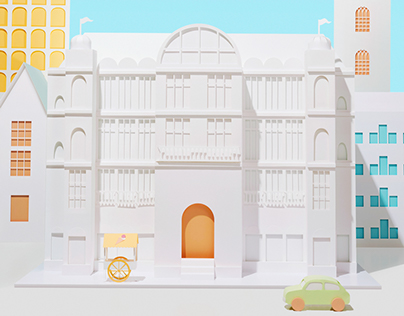 Summer in the (papercraft) city | KaDeWe