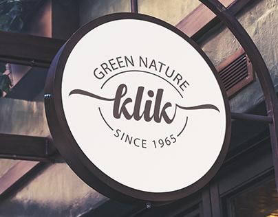 klik - a cosmetic brand logo design
