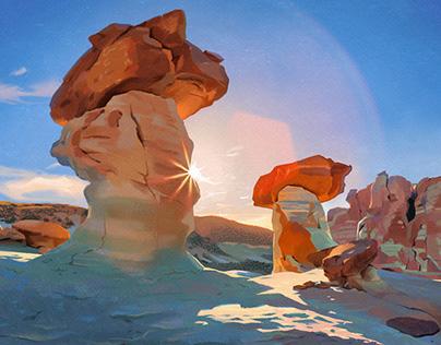 Digital paintings: Landscapes