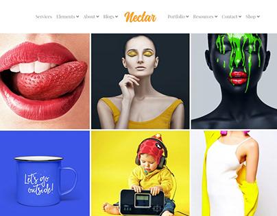Nectar WordPress Theme - Portfolio Posts Grid