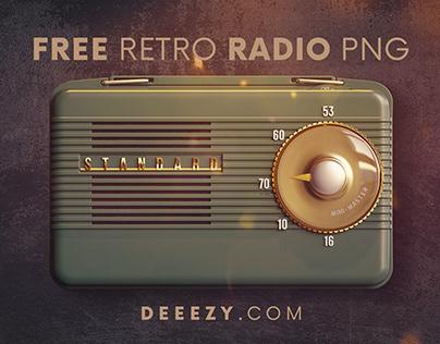 Free Retro Radio PNG Graphics