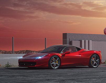 Ferrari 458 CGI