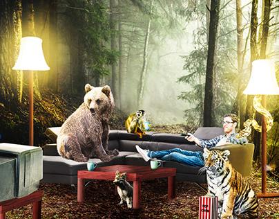 Surreal Animal Composition