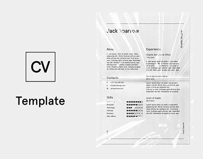 FREE CV Minimal Template Design curriculum vitae