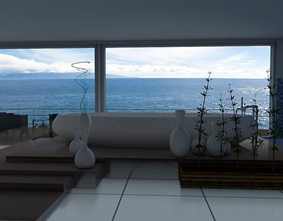 Bathroom style on ocean side.