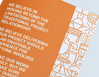 Geared Construction // Marketing Brochure, Website