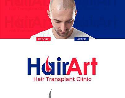 HairArt logo design