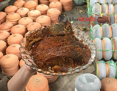Dĩa cá kho làng Vũ Đại sau khi được hoàn thành