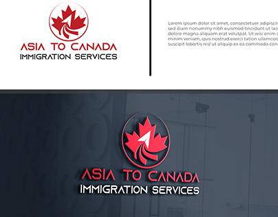 Unique logo for Immigration Service Co.