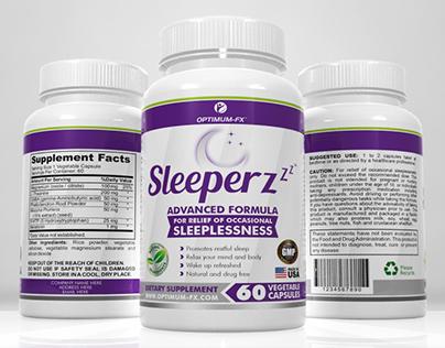 Sleeper Supplement - Label and 3D Render