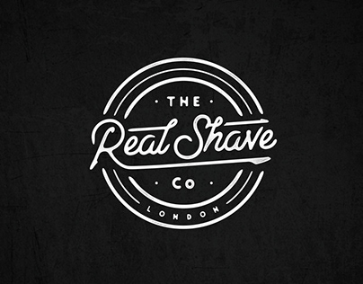 The Real Shave Hand lettering Logo